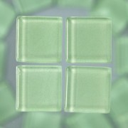 MosaixSoft-Glassteine, 10 x 10 x 4 mm, 200g ~ 215 Stk., Farbe: hellgrün
