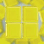 MosaixSoft-Glassteine, 10 x 10 x 4 mm, 200g ~ 215 Stk., Farbe: gelb