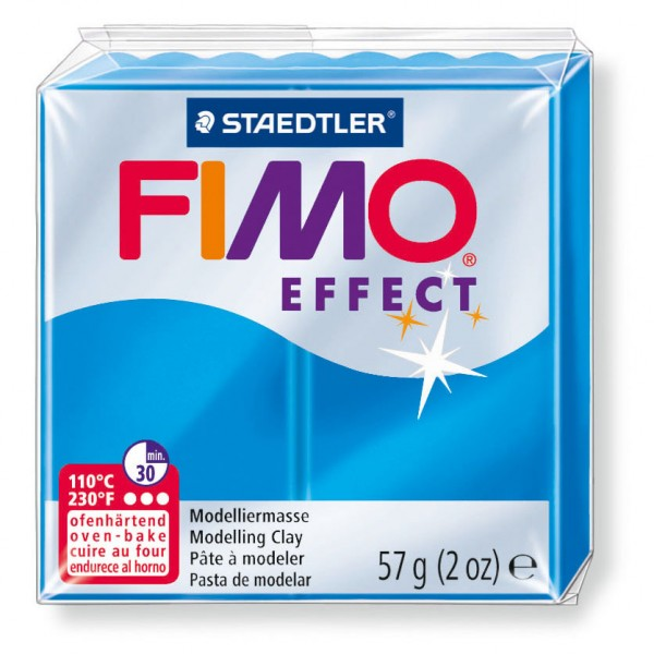 Modelliermasse Fimo effect blau transluz
