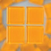 MosaixSoft-Glassteine, 10 x 10 x 4 mm, 200g ~ 215 Stk., Farbe: orange