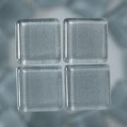 MosaixSoft-Glassteine, 10 x 10 x 4 mm, 200g ~ 215 Stk., Farbe: grau