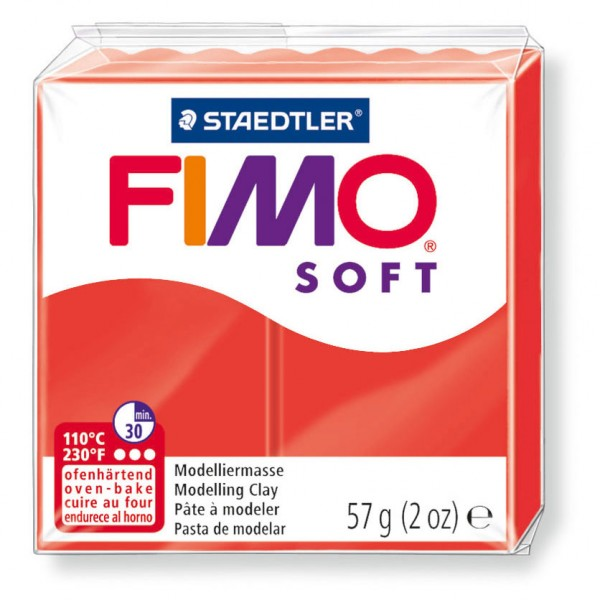 Modelliermasse Fimo soft indischrot