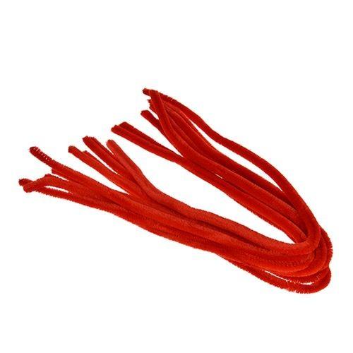 Pfeifenputzer, ø 8 mm / 50 cm, 10 Stk., Farbe: rot