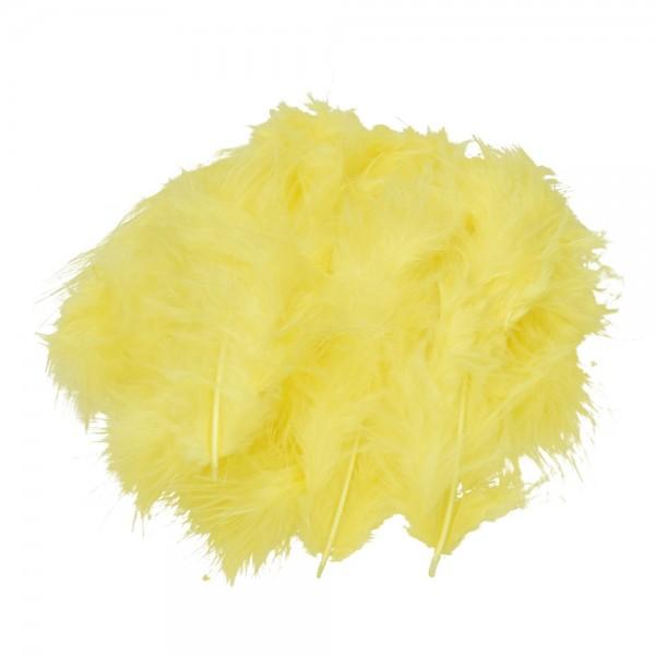 Marabufeder, 100 - 120 mm, 2 g ~ 20 Stk., Farbe: gelb