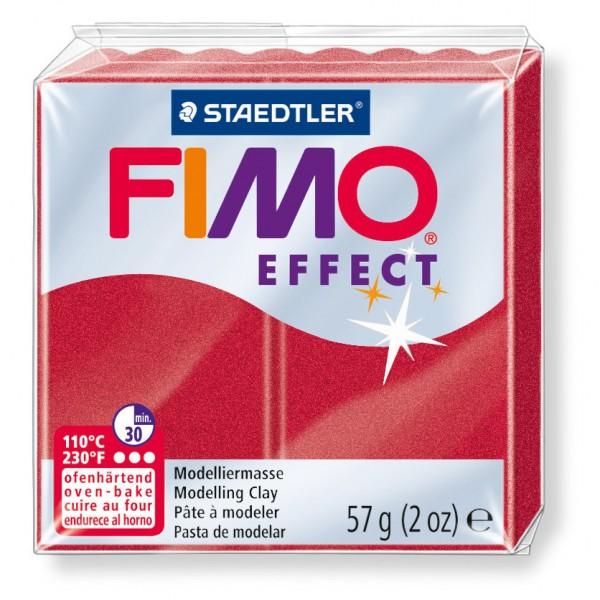 Modelliermasse Fimo effect rubinrot meta