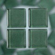 MosaixSoft-Glassteine, 10 x 10 x 4 mm, 200g ~ 215 Stk., Farbe: grün