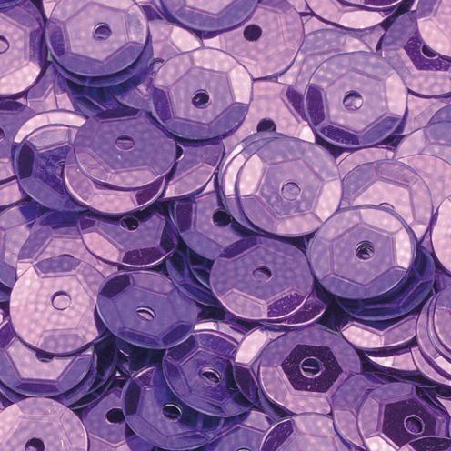 Pailletten, rund, gewölbt, ø 6 mm, 40 g / ~ 4.000 Stk., Farbe: lila