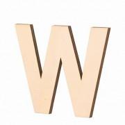 Streuer Holz, Buchstabe W, 40 x 2 mm, Farbe: roh