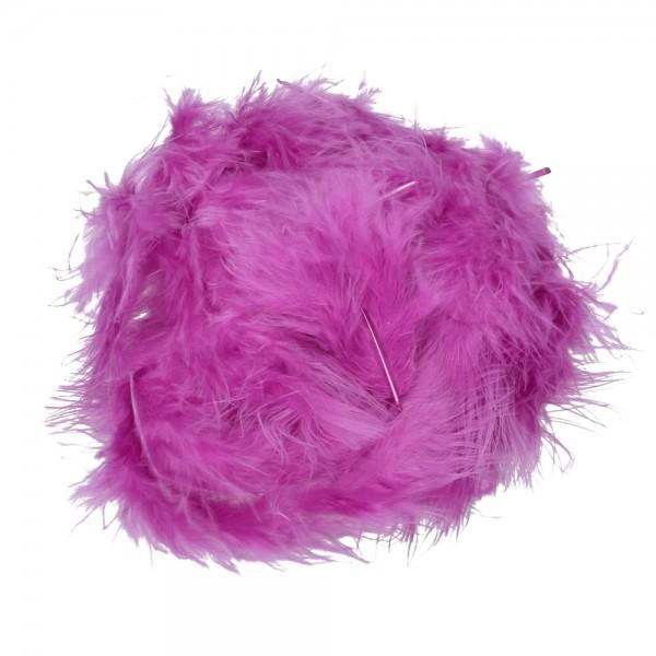 Marabufeder, 100 - 120 mm, 2 g ~ 20 Stk., Farbe: violett