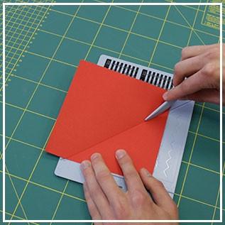 Falzbrett für Karten/Umschläge, 16,2 x 21,5 cm, 3 - teilig