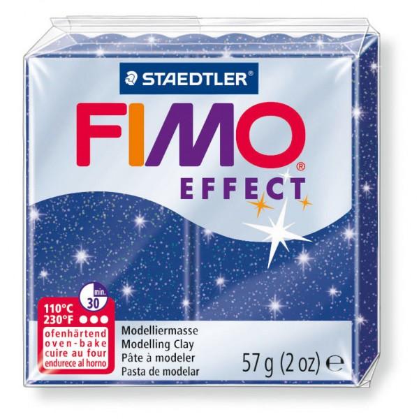 Modelliermasse Fimo effect blau glitter