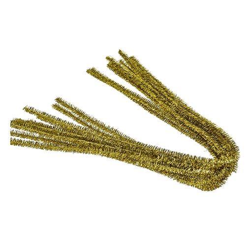 Pfeifenputzer, ø 8 mm / 50 cm, 10 Stk., Farbe: gold