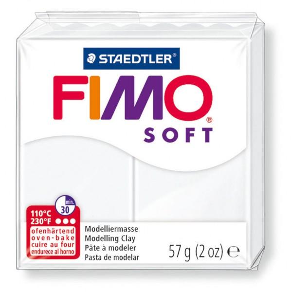 Modelliermasse Fimo soft weiß