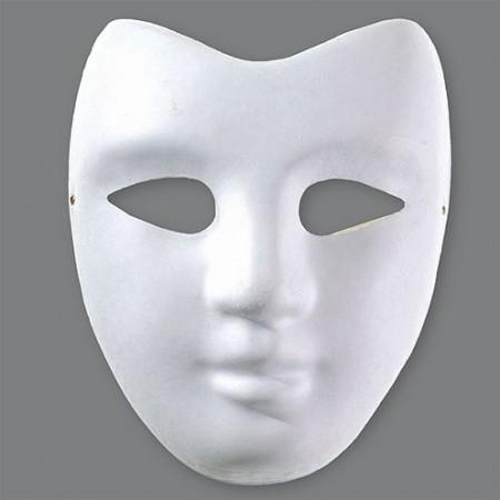 Maske, 18 x 22 cm, Farbe: weiß