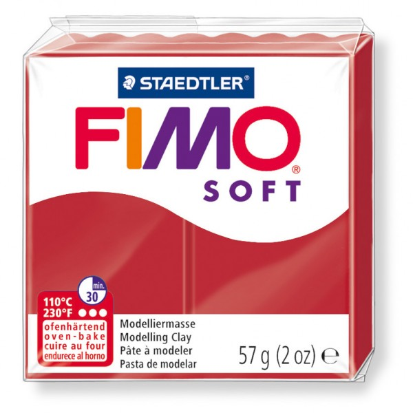 Modelliermasse Fimo soft Weihnachtsrot