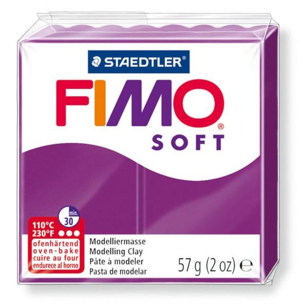 Modelliermasse Fimo soft purpur