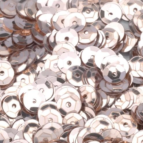Pailletten, rund, gewölbt, ø 6 mm, 40 g / ~ 4.000 Stk., Farbe: champagner