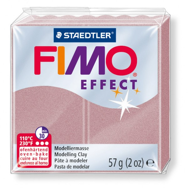Modelliermasse Fimo effect roségold pear