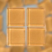 MosaixSoft-Glassteine, 10 x 10 x 4 mm, 200g ~ 215 Stk., Farbe: hellbraun