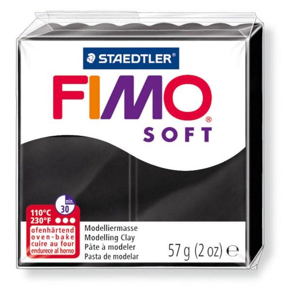 Modelliermasse Fimo soft schwarz