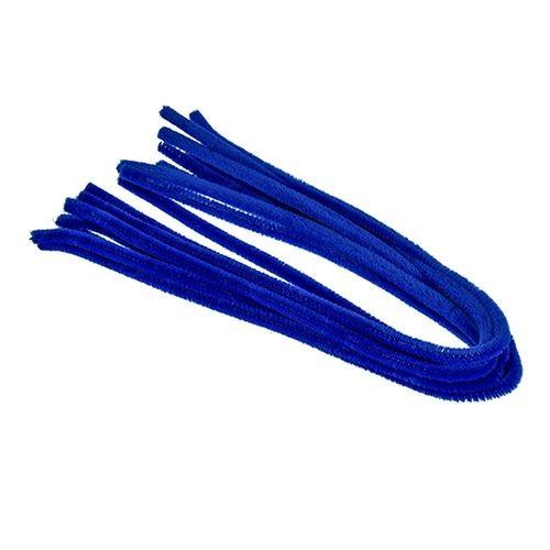 Pfeifenputzer, ø 8 mm / 50 cm, 10 Stk., Farbe: blau