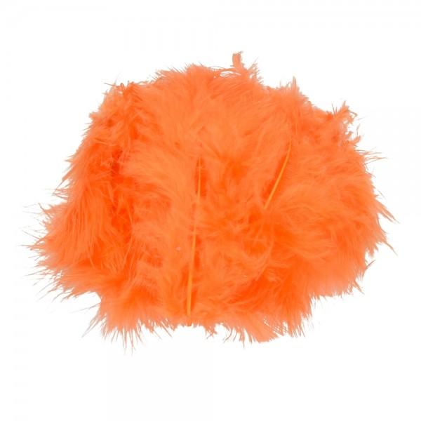 Marabufeder, 100 - 120 mm, 2 g ~ 20 Stk., Farbe: orange