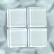 MosaixSoft-Glassteine, 10 x 10 x 4 mm, 200g ~ 215 Stk., Farbe: weiß