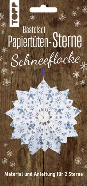 Papiertütensterne Schneeflocken