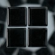 MosaixSoft-Glassteine, 10 x 10 x 4 mm, 200g ~ 215 Stk., Farbe: schwarz