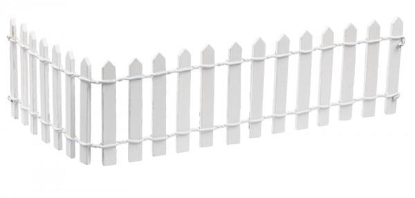 Zaun 25 x 5 cm, weiss
