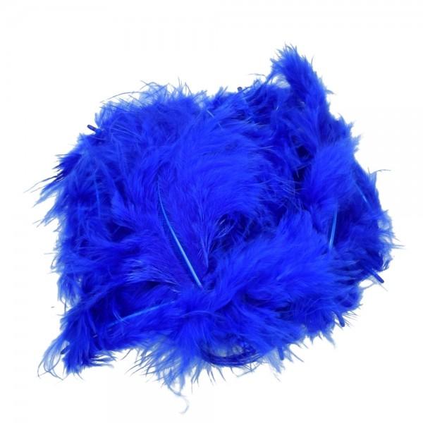 Marabufeder, 100 - 120 mm, 2 g ~ 20 Stk., Farbe: blau