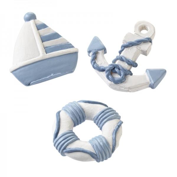 Maritime Streuteile Boot-Anker-Rettungsring, ca. 4 cm, Btl. à 3 St.