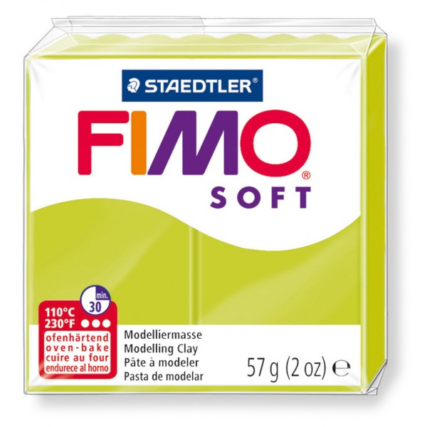 Modelliermasse Fimo soft grüne limone