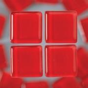 MosaixSoft-Glassteine, 10 x 10 x 4 mm, 200g ~ 215 Stk., Farbe: rot
