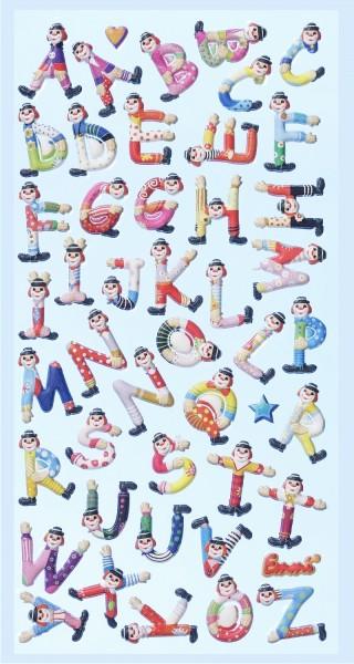 SOFTY-Sticker Clown-Buchstaben